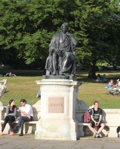Jenner statue in Hyde Park, London. (Photo by David W. Bulla)
